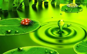 Green-World-with-insects-3D